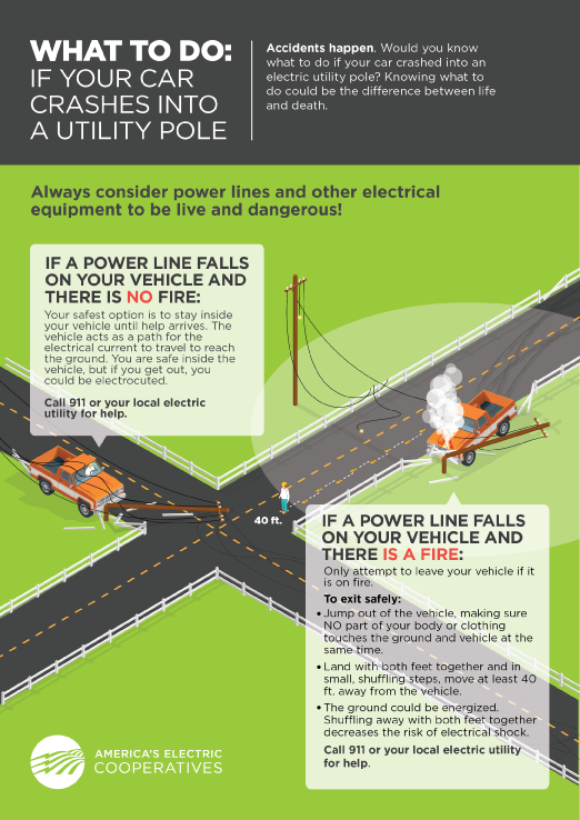Vehicle Pole Collision Graphic